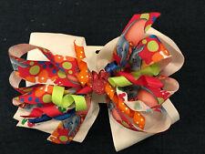 New Huge 6� Custom Handmade Boutique Stacked Hairbow Disney World Vacation Dumbo