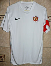 MANCHESTER UNITED FC SOCCER TEAM NIKE WHITE TRAINING JERSEY SMALL SIZE