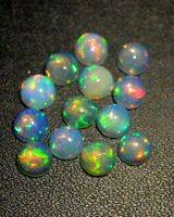 NATURAL ETHIOPIAN WELO FIRE OPAL CABOCHON CALIBRATED 3 MM 10 PCS OPAL DDL88