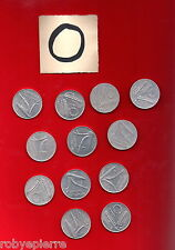 lotto 10 lire 12 monete 1951 1952 1953 1955 1973 1974 1975 1977 1979 80 81 1982