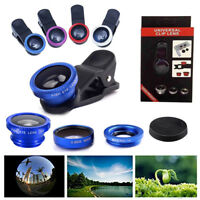 3 in1 Clip Fish Eye+ Macro+ Wide Angle Lens Camera kit for Apple iPhone/ Samsung