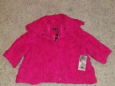 Samuel Dong Pink Blazer Jacket Size M Long Sleeve Textured Stretch NEW $138.00