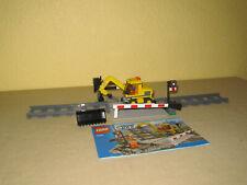 Lego  City  Eisenbahn   Bahnübergang  mit  Bautrupp   Bagger    7936