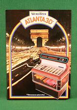 Original Wurlitzer Atlanta 3D Jukebox Brochure