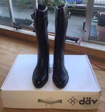 Dav Women's Equestrian Stretch Boots Black Sz US 6 EU 36 Insulated Buckle
