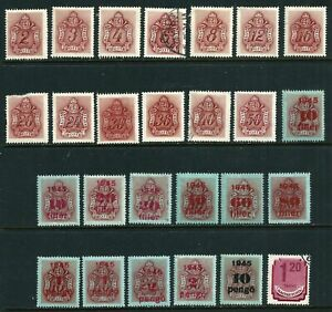 Hungary Postage Due 1941-1946 (26 Mint Hinged Stamps)