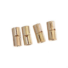 4X 8mm Brass Barrel Cabinet Hinge Cylindrical Hidden Invisible Hinges GT