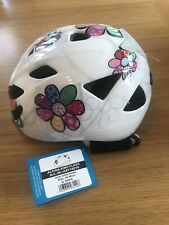 Alpina Ximo Flash Children Bicycle Helmet 45-49 cm White Flower Brand New