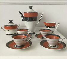 vintage Art Deco sterling silver detailed Coffee set