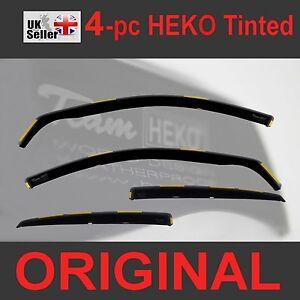 FORD FOCUS MK3 Saloon Hatchback 5-D 2011-2018 4-pc Wind Deflectors Heko Tinted
