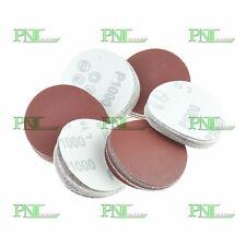 100pcs 2Inch 400Grit Sander Hook&Loop Backed Flocking Sandpaper Polishing pad