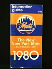 1980 NEW YORK METS BASEBALL INFORMATION GUIDE WITH MANAGER JOE TORRE