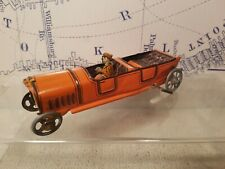 Tin Toy German Early 1900 Wind up Touring car (Marked with toymaker name)