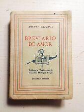 BREVIARIO DE AMOR MIGUEL SAPERAS SEGUNDA EDICIÓN 1942