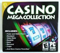 New Brain Games Casino Mega Collection (PC) Games, Slots, Poker FACTORY SEALED