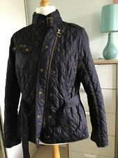 Womens Barbour Spring Matlock Quilted Jacket Coat Size 10 Black