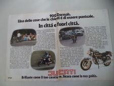 advertising Pubblicità 1979 MOTO DUCATI DARMAH SD 900