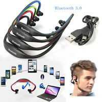 Wireless Bluetooth Stereo Sport Headphone Headset Earphone for iPhone Samsung PC