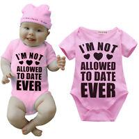 Casual Newborn Baby Girls Short Sleeves Cotton Romper Bodysuit Clothes Summer