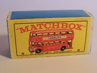Matchbox Lesney No 5 London Bus empty Repro E style Box