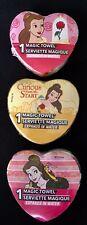 "Disney Princess BELLE, Set/3 Magic Towels 11.5"" X 11.5"", Washcloth, Gift Wrapped"