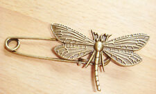 Bronze Colour Dragonfly Pin Brooch ideal for kilt, scarf sarong or cardigan etc