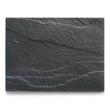 Glas Schneideplatte Schiefer, groß 40x30cm, Zeller, Schneidebrett, Servierplatte
