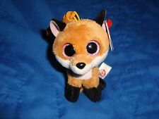 """2015 Ty Beanie Boos Backpack Clip Slick the Fox 3.5"""" tall W/Tags"""