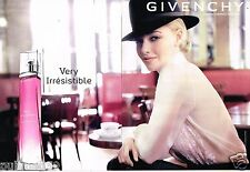Publicité advertising 2013 (2 pages) Parfum Very Irresistible Givenchy