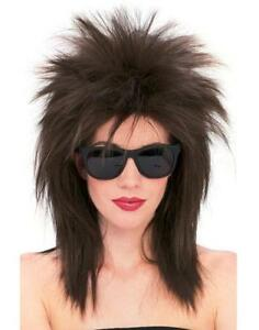 Super Star Wig 80's Spiked Fancy Dress Up Halloween Costume Accessory 5 COLORS