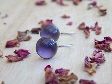 sterling silver amethyst earrings - sterling silver drop earrings