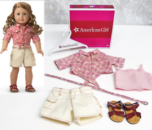 American Girl Doll Nikki NICKI'S TIE TOP & SHORTS OUTFIT Shoes Belt Tank AG BOX