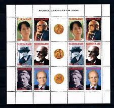 [SUV1386] Surinam Suriname 2006 Nobel price winners Miniature Sheet with tab MNH