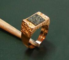 Expressiver 585er LAPPONIA Herren-GOLDRING m. KUPFERERZ-Stein • Weckström Ring