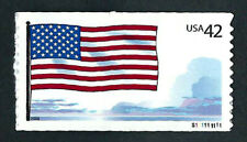 UNITED STATES, SCOTT # 4273, SINGLE STAMP AMERICAN FLAG & CLOUDS PNC #S111111111