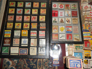 100s Old Matchbooks Restaurants Hotels Stores Advertising Auto wDisplay Cases NR