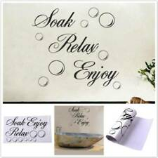Bathroom Shower Quote Wall Sticker Bubble Bath Relax Decals Window Decor ONE