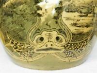 JUGENDSTIL Art Nouveau xxl Keramik Vase ° Schramberg um 1900 (Z)