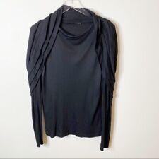 Haider Ackermann Black Long Sleeve Cap Ruffle Layered Pullover Sweater Size 6 38