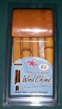 New listing Pepperell Natural Bamboo Seven Piece Wind Chime Kit Brand New in Sealed Blister