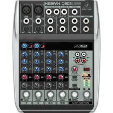 BEHRINGER xenyx Q802 USB mixer professionale DJ 8 canali NUOVO garanzia ITALIA