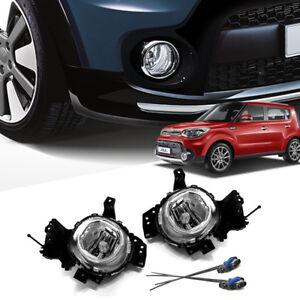 Genuine Parts Front Bumper Fog Lamp + Connector Set For KIA 2017 2018 Soul