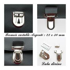 Fermoir cartable Attache cartable / Pochette / Porte-feuille Argenté 22 x 30 mm