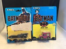 ERTL 1989  #1064 BATMANS  BATMOBILE  &  #1532 JOKER VAN  SEALED BLISTER  PACKS