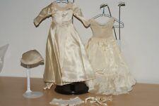 "GORGEOUS! Vintage Wedding Bride Dress Gown Outfit 14"" Slip, Bouquet Doll"