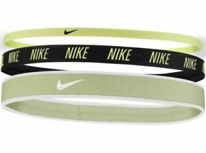 NIKE MIXED WIDTH HAIRBANDS 3 PACK LIME ,green