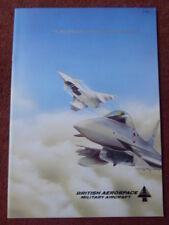 1990 BROCHURE PUB BRITISH AEROSPACE EFA EUROPEAN FIGHTER AIRCRAFT EUROFIGHTER
