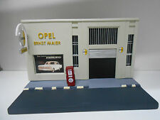 FACHADA DIORAMA GARAJE RESINA GIFT OPEL COLLECTION EAGLEMOSS IXO 1:43