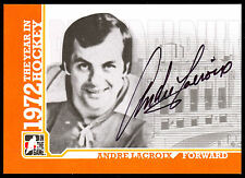 09 ITG 1972 THE YEAR IN HOCKEY AUTO AUTOGRAPH ANDRE LACROIX PHILADELPHIA FLYERS