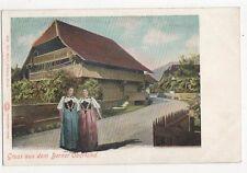 Gruss Aus Berner Oberland Switzerland Vintage Postcard 0985